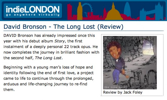 Indie London reviews David Bronson's new album The Long Lost