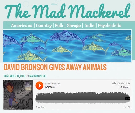 David Bronson releases single 'Animals' from The Long Lost on Mad Mackerel