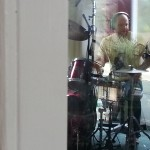 Jeremy Bronson recording drums on The Long Lost Story at The Mansion, Long Island, NY