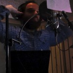 David Bronson recording vocals on The Long Lost Story, Perfect Mixes, Brooklyn, NY