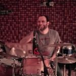 Jeremy Bronson recording drums on The Long Lost Story, Mavericks, Lower East Side, NY