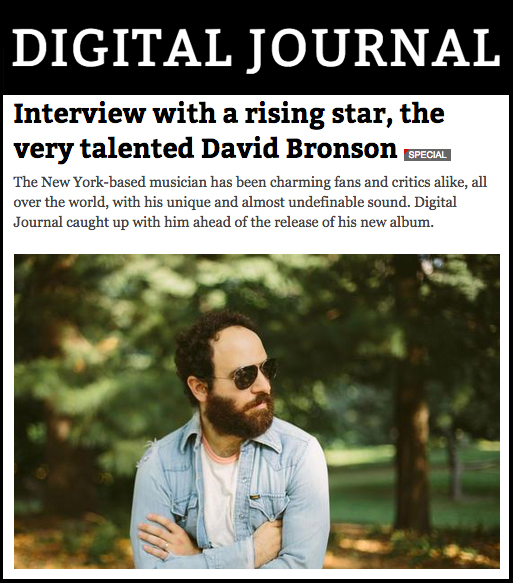 "Digital Journal interviews singer-songwriter David Bronson upon the release of his third album ""Questions""."
