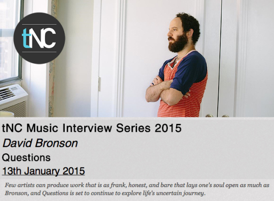 The New Current's 2015 interview with David Bronson